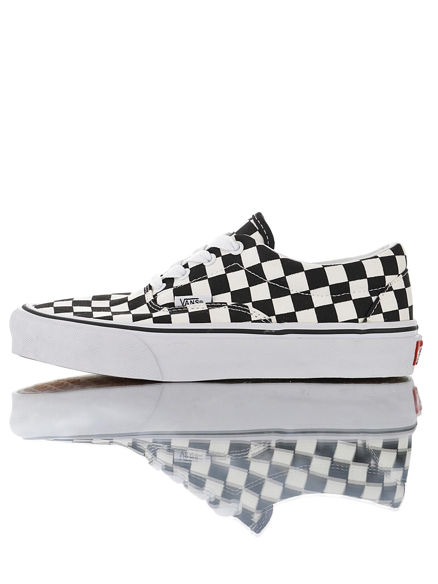 "范斯/Vans Era Crft""White/Checkerboard""4孔低帮百搭休闲帆布硫化板鞋""黑白棋盘格子""VN0A3WLRVPN"