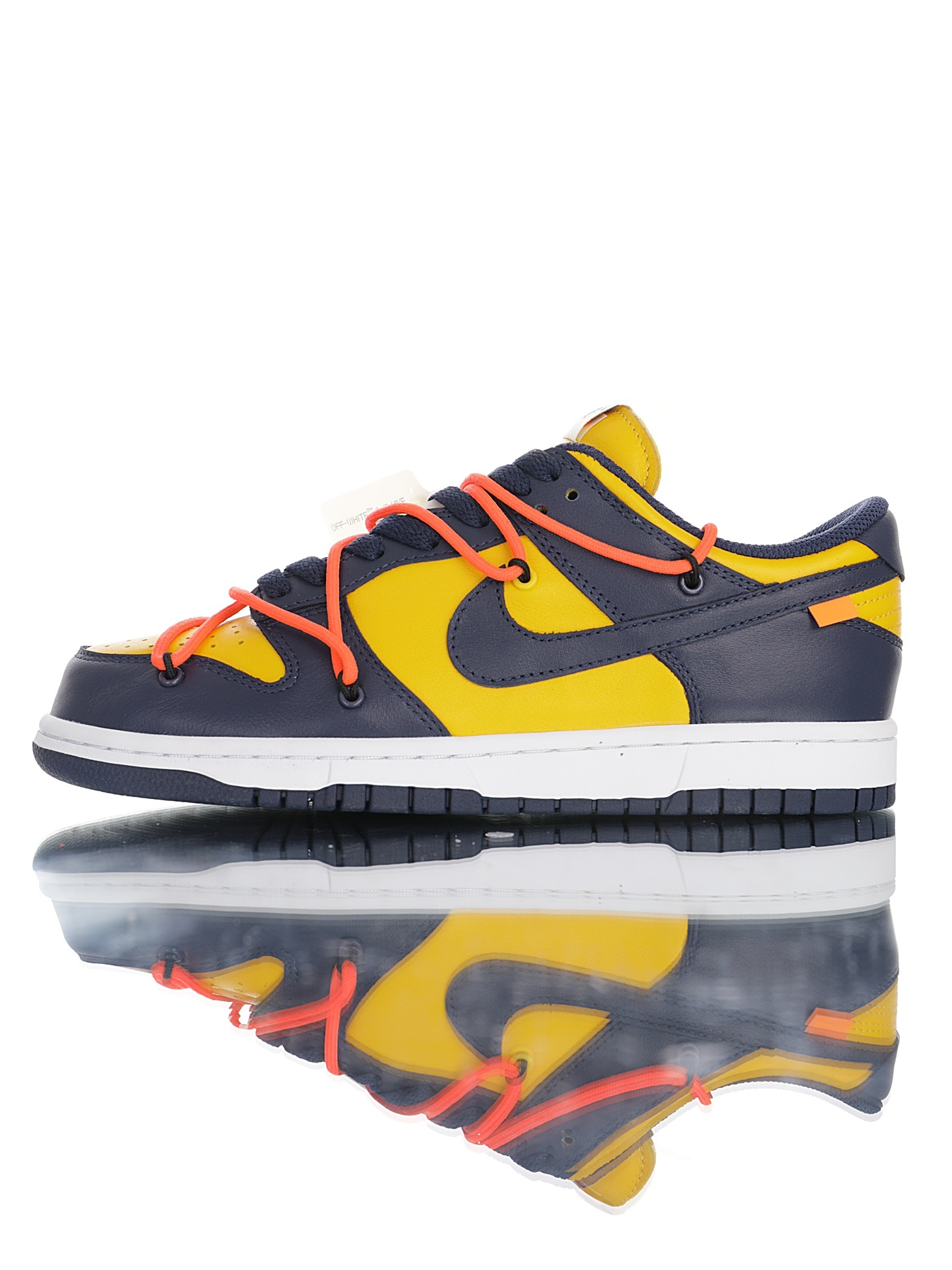 "Off-White™ x Futura x Nike SB Dunk""Midnight Blue/Yellow ""扣篮系列低帮经典百搭休闲运"
