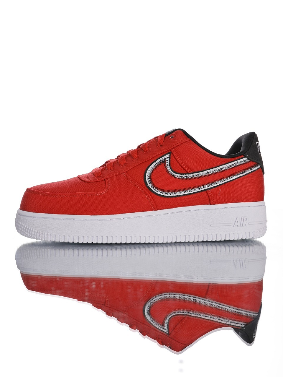 "耐克Nike Air Force 1 '07 LV8""University Red/Black White""AF1空军一号低帮经典百搭休闲运"