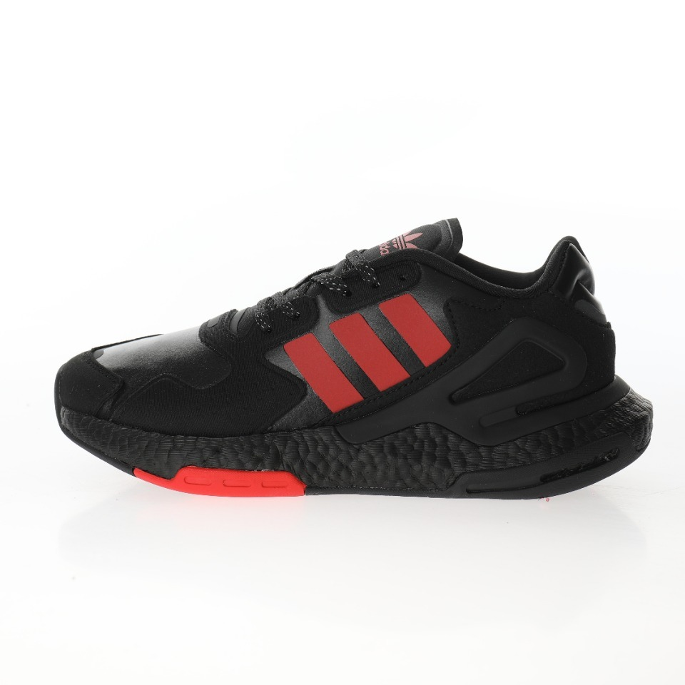 "adidas三叶草 Originals 2020 Day Jogger Boost""All Black/Red""2020版慢跑者系列高弹复古"